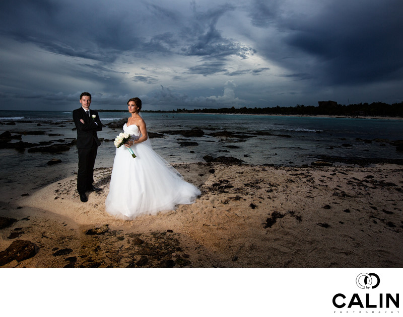 Bride and Groom at Ashbridge's Bay Yacht Club