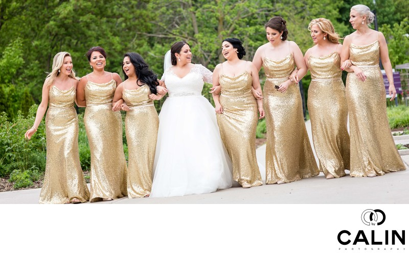 Bride and Bridesmaids Walk
