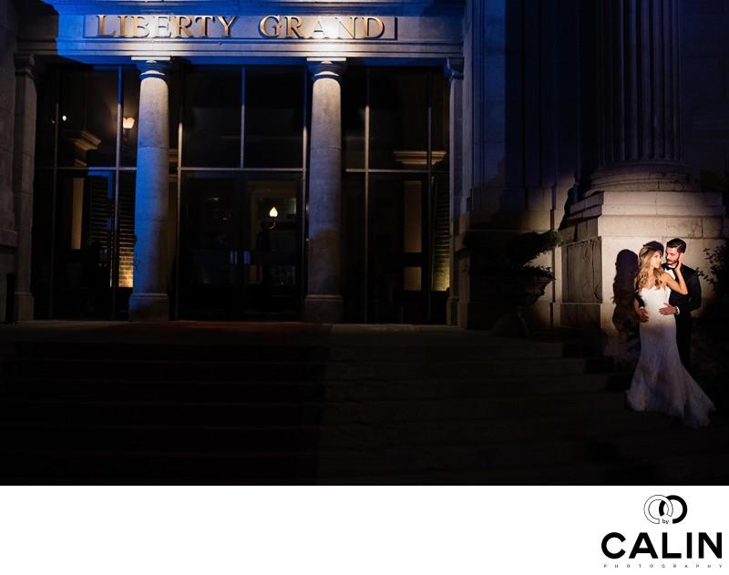 Bride and Groom at Liberty Grand