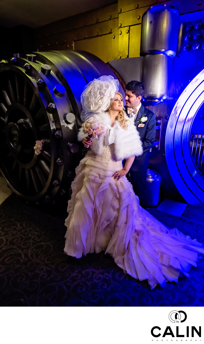 Bride and Groom Portrait at One King West Wedding