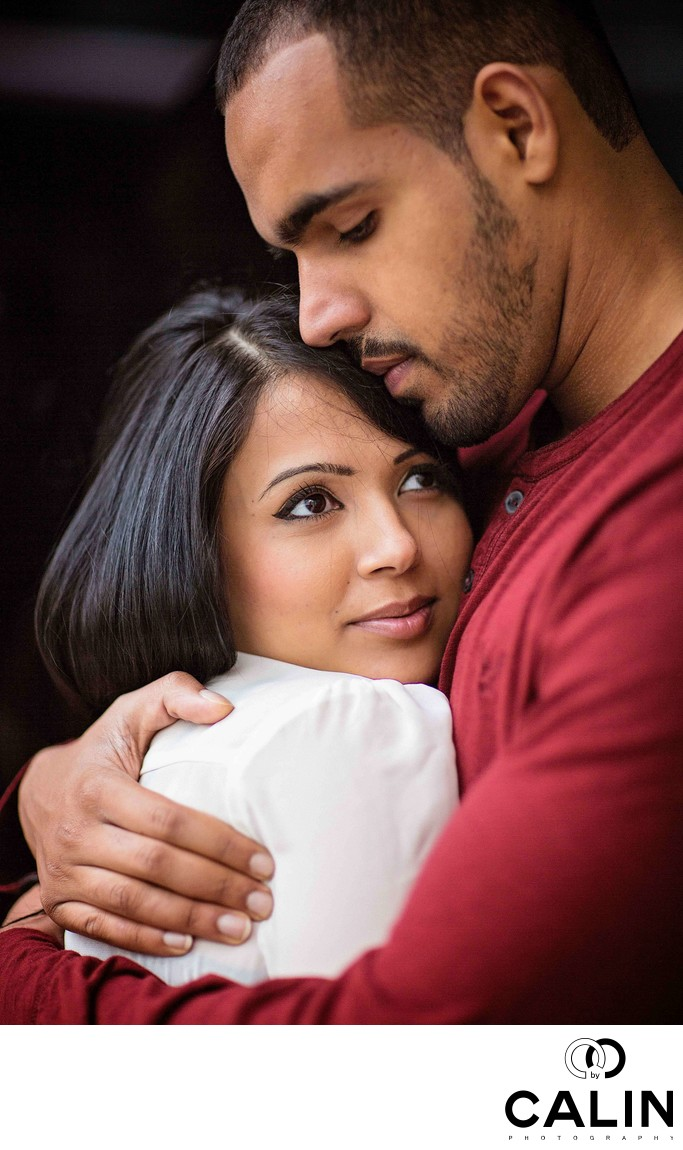 Engagement Photo of Indian Couple