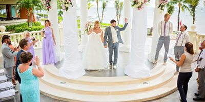 Recessional at Barcelo Maya Palace Deluxe Wedding