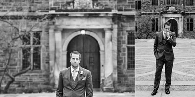 Groom Portraits Before First Look at Berkeley Church Wedding