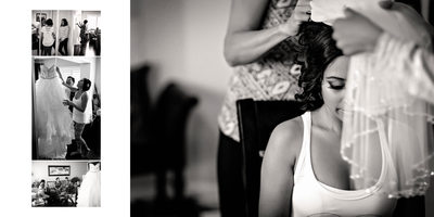 Bride Getting Ready for Country Heritage Park Wedding