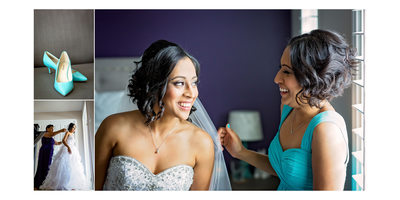 Bride and Bridesmaid at Country Heritage Park Wedding