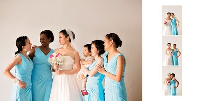 Bridesmaids at Atlantis Pavilions Wedding