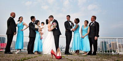 Bridal Party Portrait at Atlantis Wedding