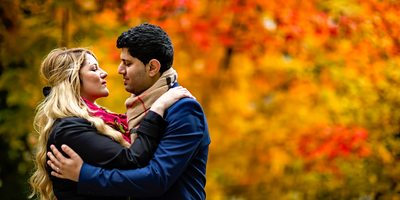 Fall Engagement Photo at University of Toronto