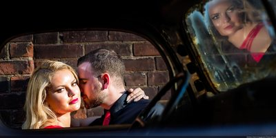 Stunning Distillery District Engagement Photo