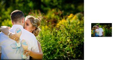 Toronto Botanical Garden Engagement Album Spread