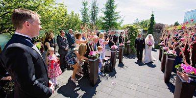 Toronto Botanical Garden Wedding Processional