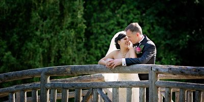 Toronto Botanical Garden Wedding - Newlyweds