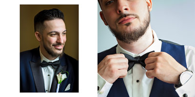 Portraits of Groom Getting Ready
