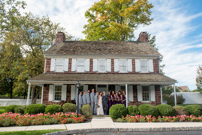 Bridal Party in Blue Bell