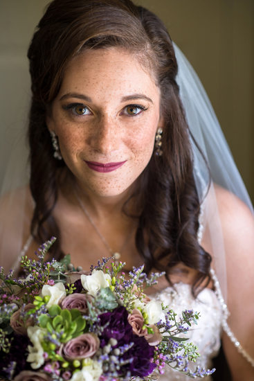 Beautiful Bride in Blue Bell