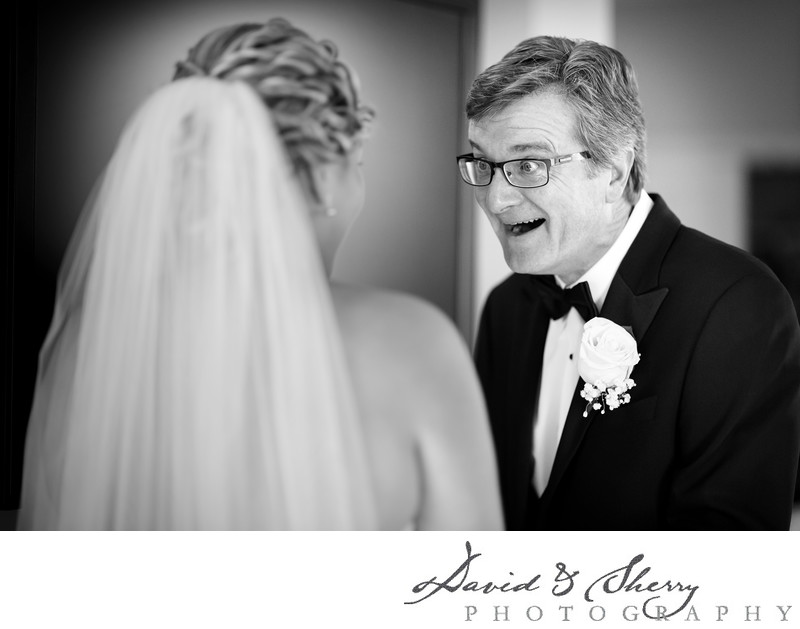 Beautiful Wedding Moments First Look With Dad