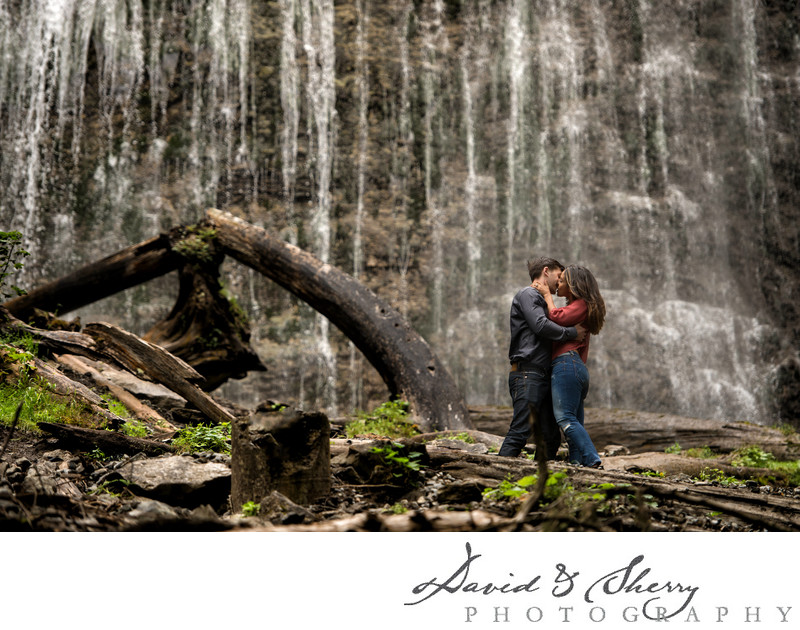 Engagement Pictures at Bridal Falls
