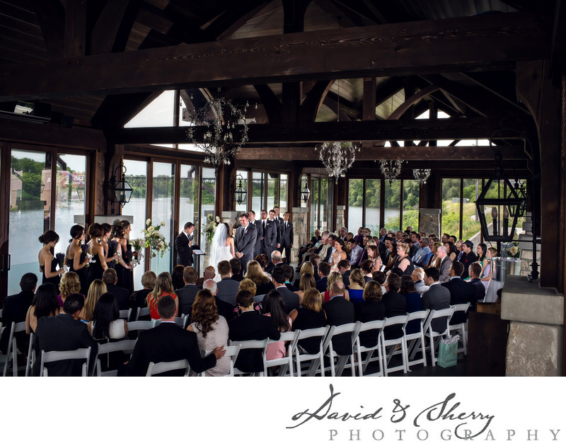 Wedding in the Pavilion at Cambridge Mill