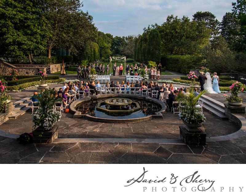 Outdoor Wedding Ceremony Graydon Hall Manor