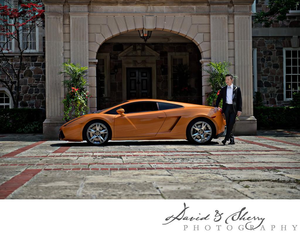 toronto luxury car rental wedding photos   wedding   david amp sherry