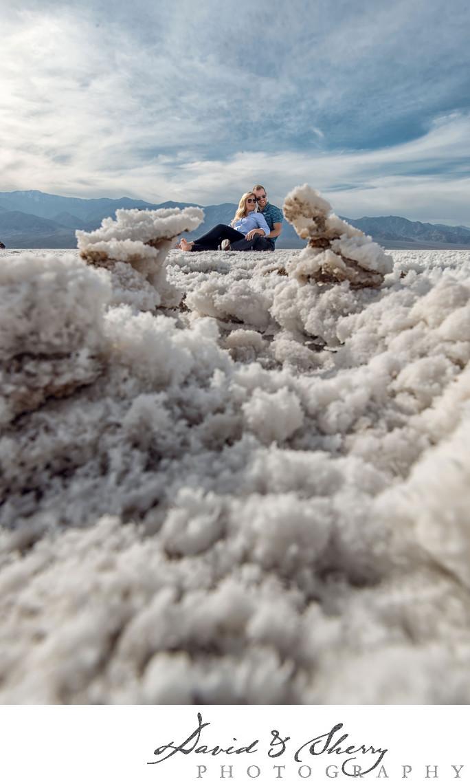 Death Valley Salt Flats Pre-Wedding Photos