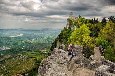 San Marino Pre-Wedding Engagement Photography