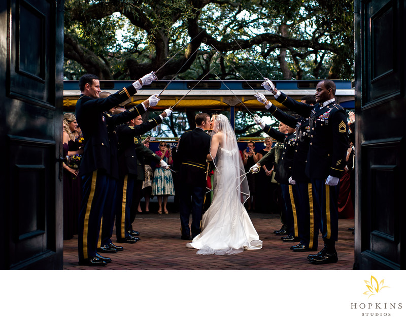 Military Wedding Photography In Savannah