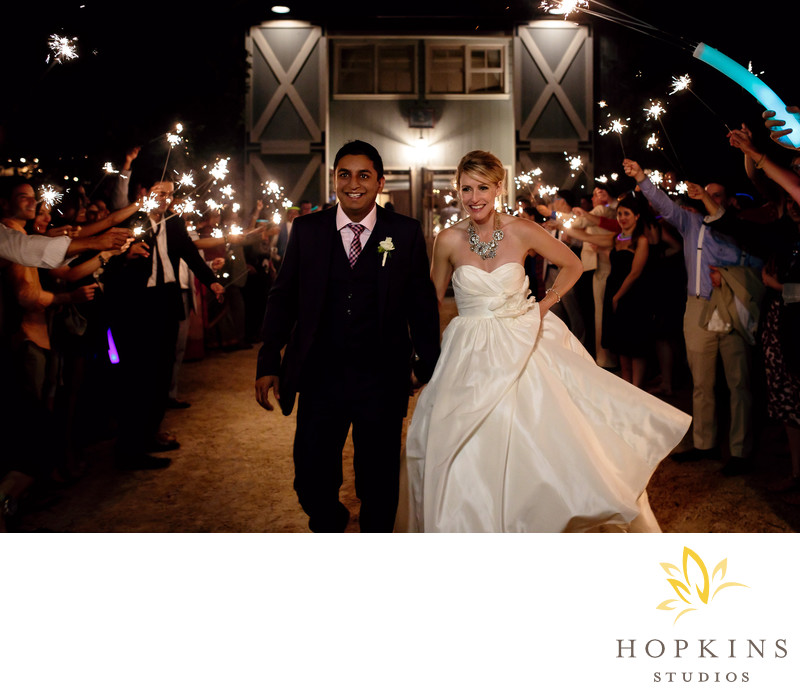 Sparkler Exit at Pippin Hill