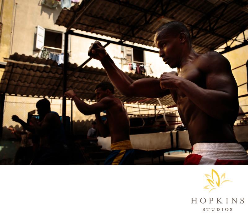 Boxing Practice in Havana Cuba