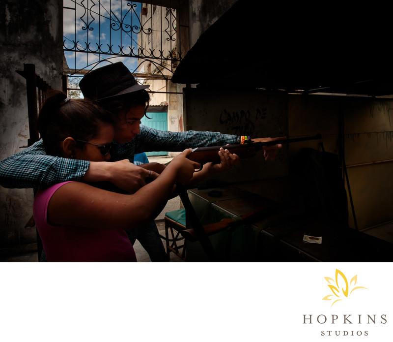 Shooting Alley on Havana Side Street