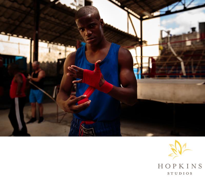 Boxer at the Rafael Trejo Gym in Havana