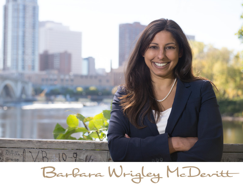 Minneapolis attorney business portrait