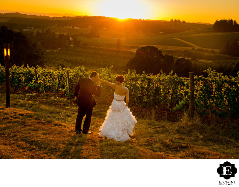 Willamette Valley Vineyards Wedding Photography
