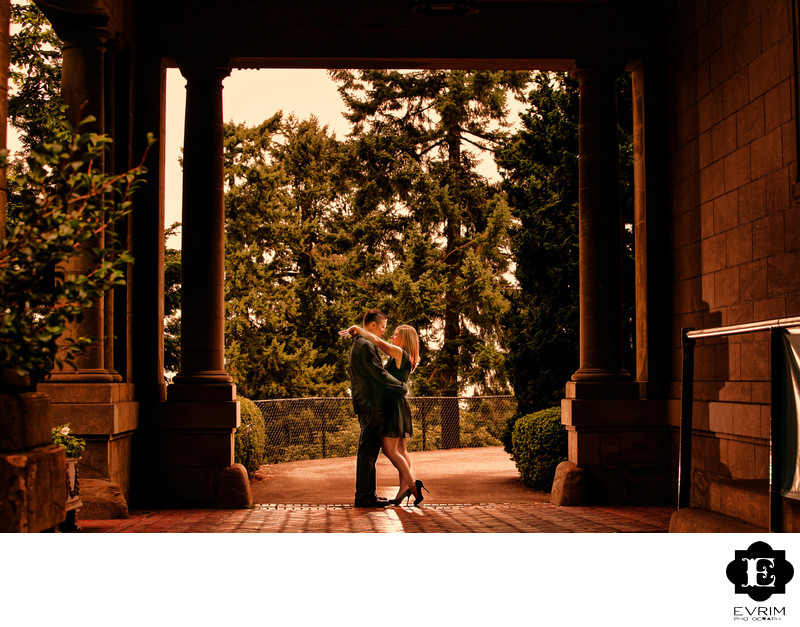 Pittock Mansion Engagement Picture