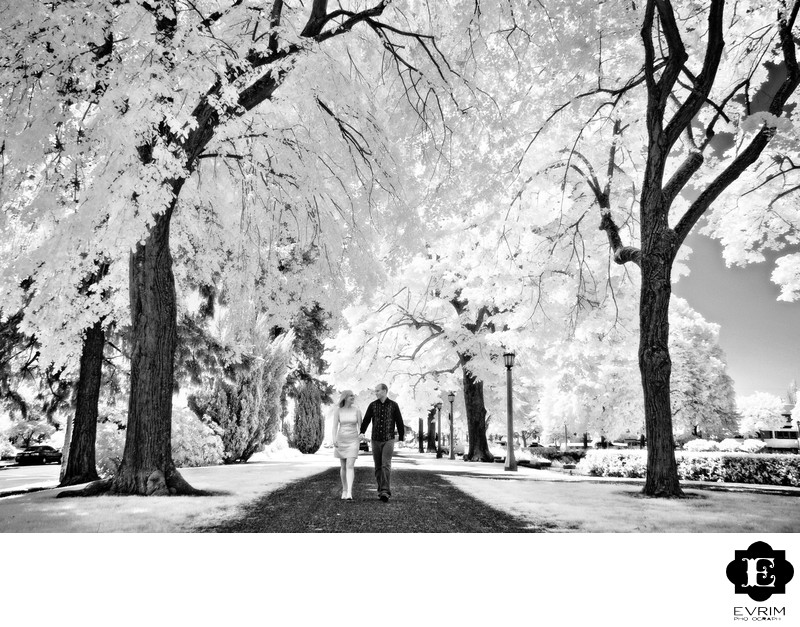 Artistic Infrared Portland Engagement Picture