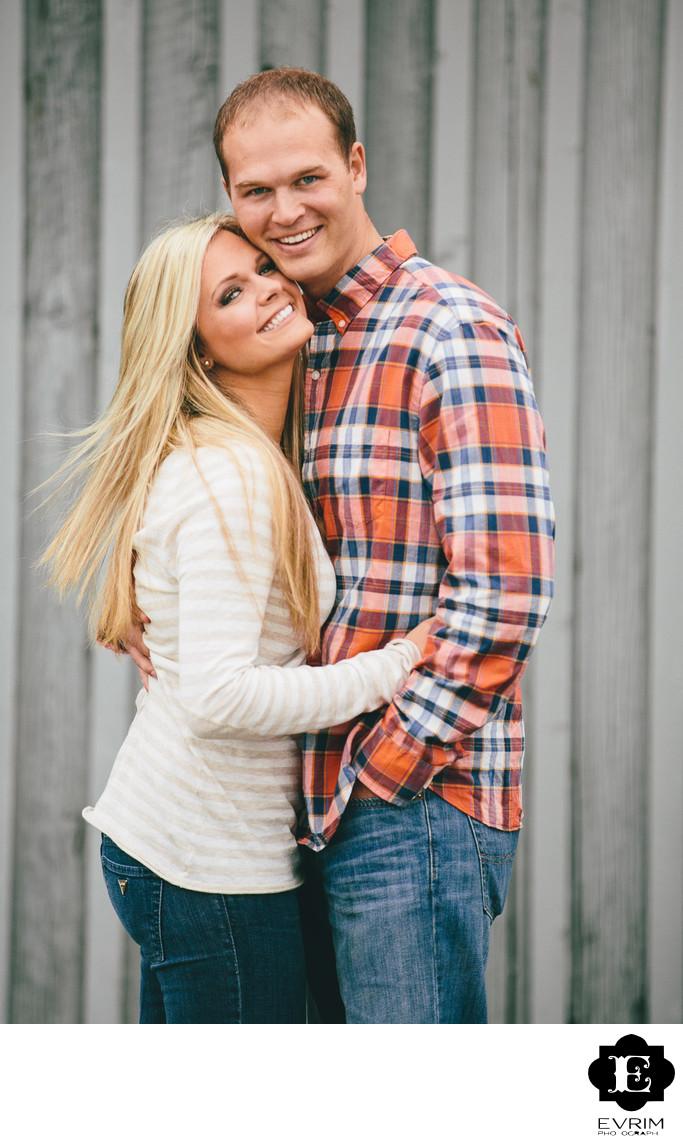 Classic Portland Engagement Couple Picture