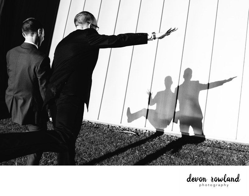 Silly grooms and silhouettes