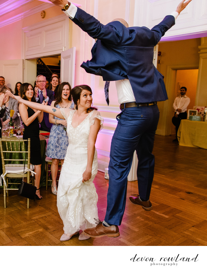 Ecstatic Entrance at DC Wedding Reception