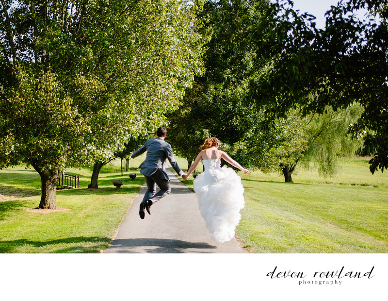 Lively Bride and Groom at Ostertag Vistas Wedding