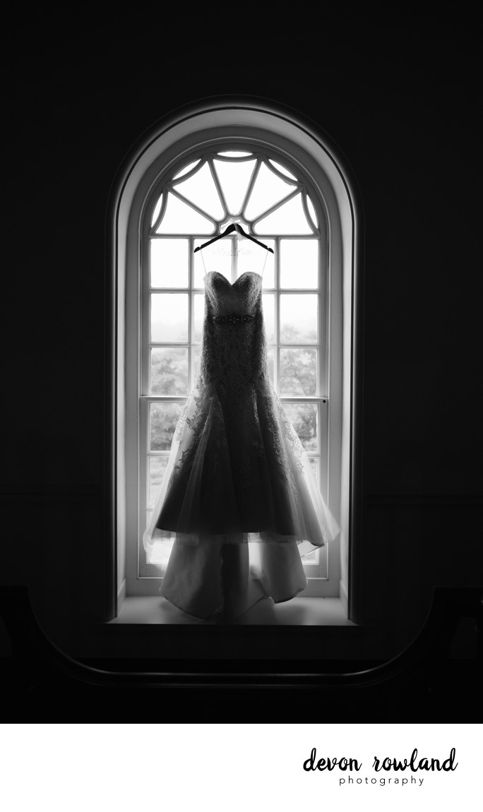 Dramatic wedding gown in Frederick, Maryland