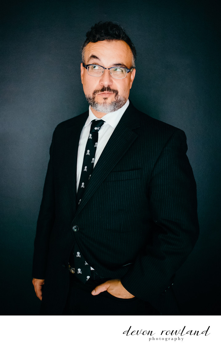 Quirky Baltimore Headshot for Nontraditional Suit