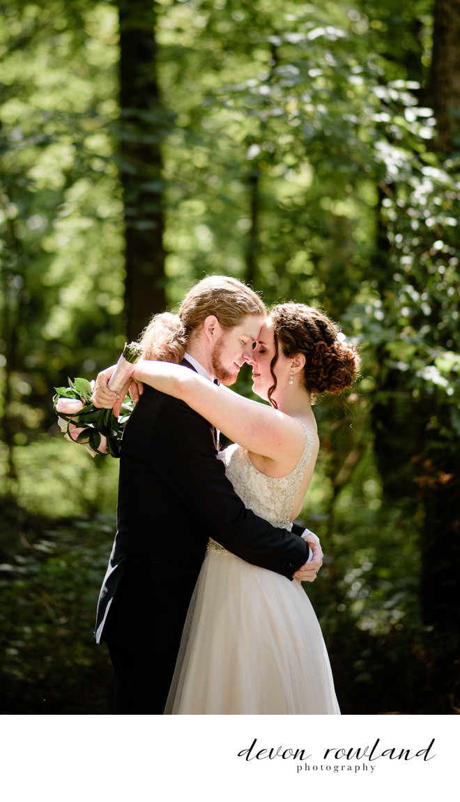 Maryland Wedding Day with Sunlit Bride and Groom