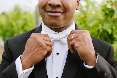 Dapper AF groom at 8 Chains North Winery