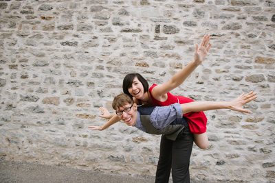We can fly! Fun and fabulous couple