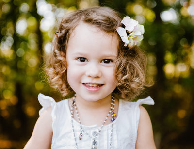Classic Child Portrait in Maryland Summer Setting