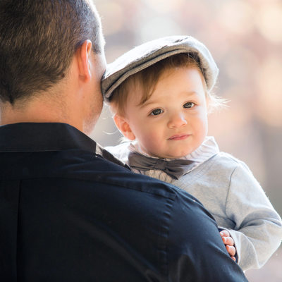 Baby Boy wearing hat • Westchester Photographer
