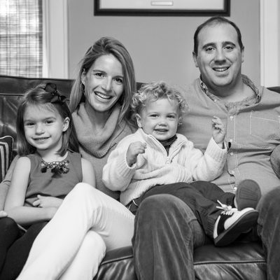 Black and White Family Photo in Westchester