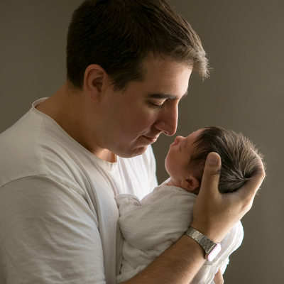 Father with newborn • Westchester