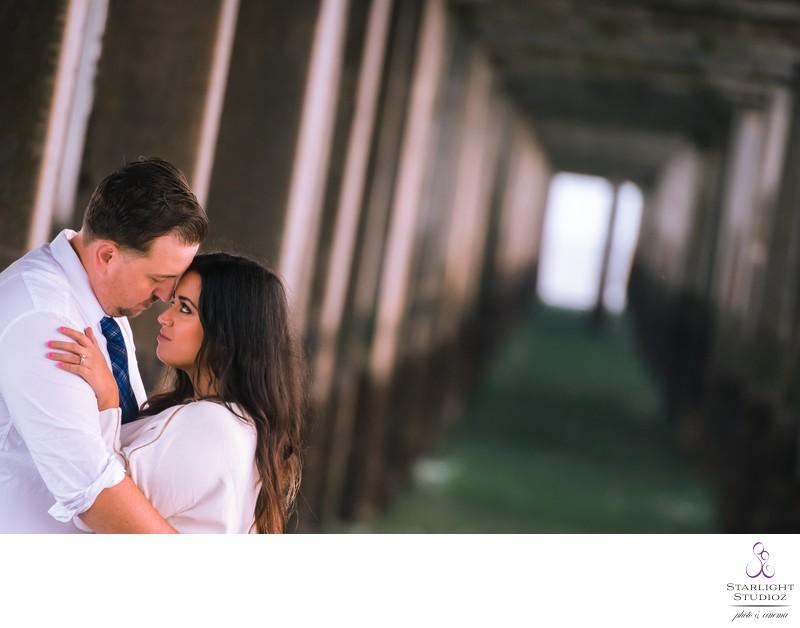 Coney Island Engagement Photo