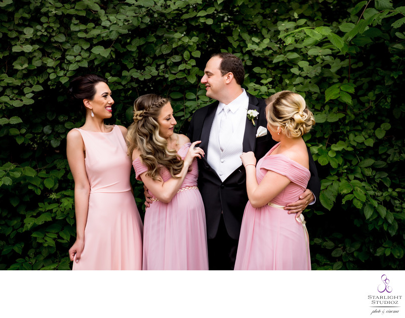 Bridal Party Photos in Prospect Park